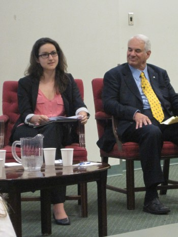 Meaghan Daniel with Clayton Ruby in the aftermath of the G20
