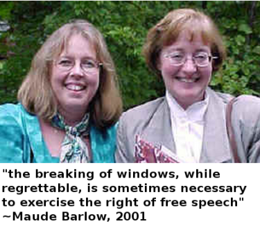Elizabeth May with comrade & co-author Maude Barlow