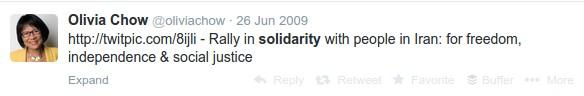 olivia-chow-solidarity-iran