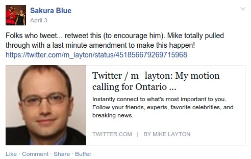 "Last minute ""leadership"" from Mike Layton..."