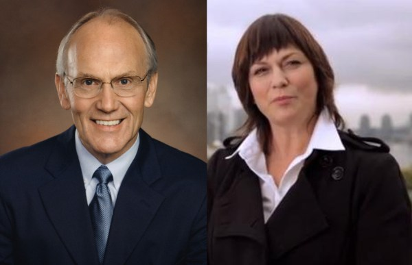 Anti-gay senator Larry Craig, and anti-bullying crusader Sandy Garossino