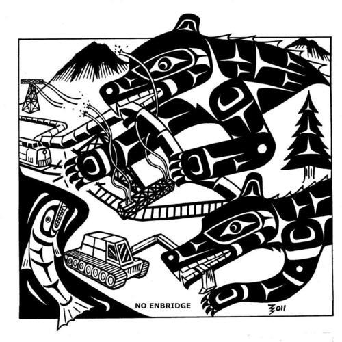 "Gord Hill's art -symbolism or ""terrorist propaganda""?"