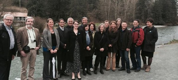 Real Estate Foundation of BC board members with Waterwealth Project in 2014