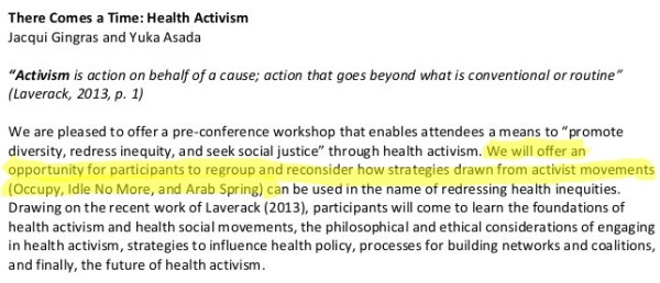 "What does ""health activism"" have to do with the Arab Spring?"