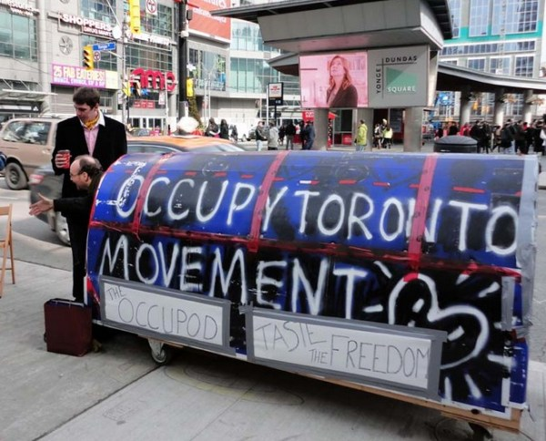 "Occupy Toronto's ""Occupod"", built by Gregory Alan Elliott"