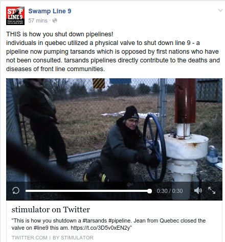 Pipeline protesters are stupidly dangerous...