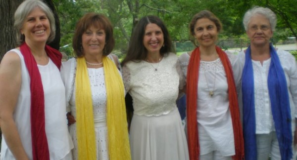 Inspiration Community New Agers all dressed in white...