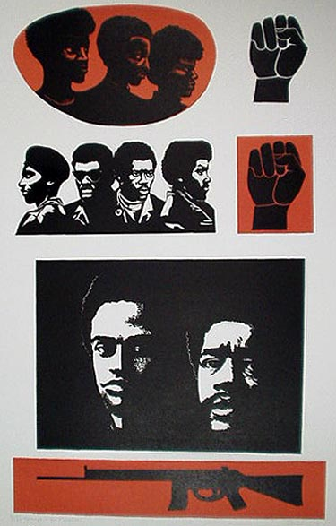 """""""Homage to the Black Panther Party"""" by Elizabeth Catlett"""