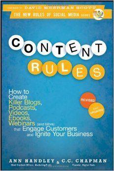 """""""Las reglas de contenido"""" - Ann Handley y CC Chapman"""