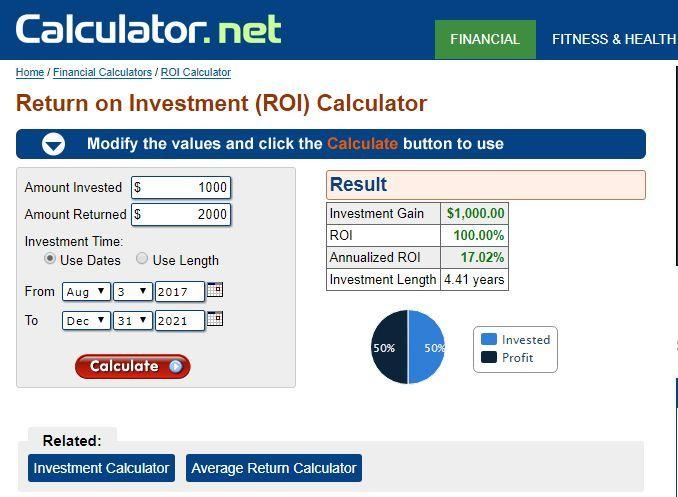 Calculadora ROI