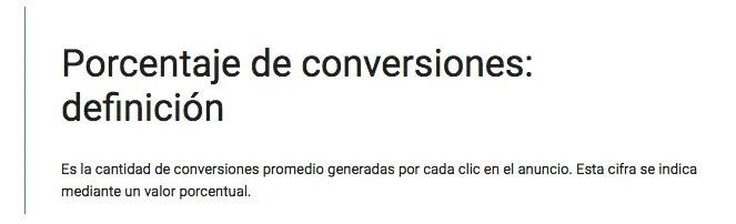 porcentaje de conversion
