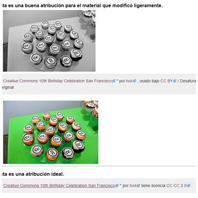 ejemplo sobre como debe atribuirse las banco de imágenes creative commons con licencia CC0