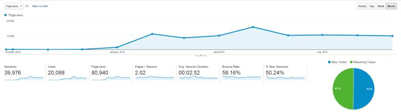 1st year of blogging traffic