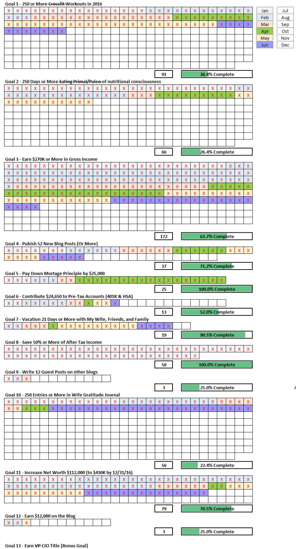 June 2016 Goal Check