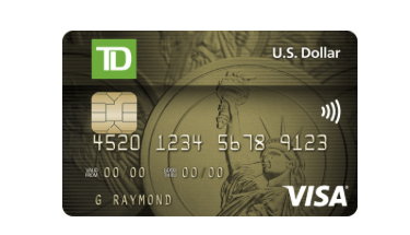 Td Us Dollar Visa Credit Card Review Genymoney