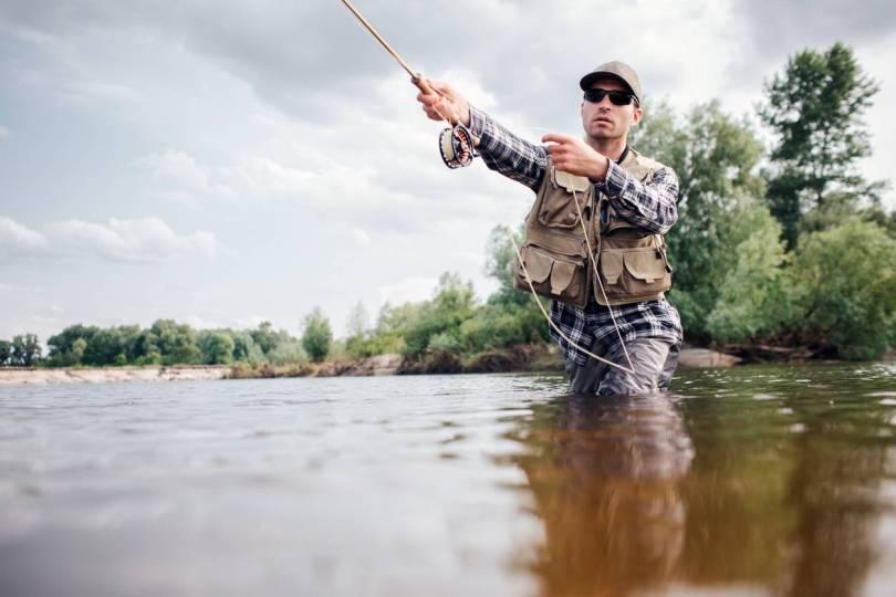 filet camouflage pêcheur