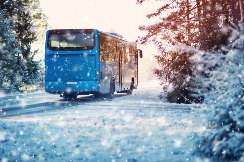aller au ski en bus