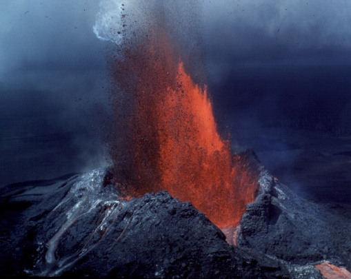 Volcanic eruptions can be placed into two general categories: those