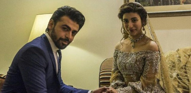 Farhan and Urwa Hocane's reception pictures released   TheNewsTribe.com
