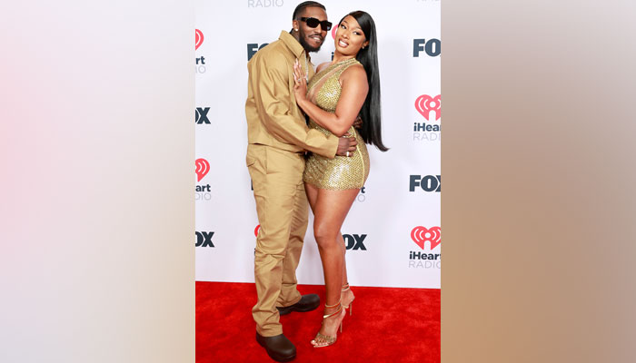 352324 2306427 updates Megan Thee Stallion makes red carpet debut with beau at iHeartRadio Music Awards