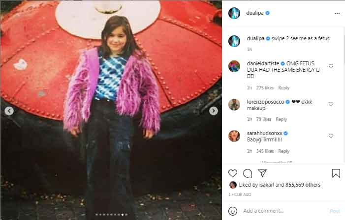 Dua Lipa shares childhood pictures with her fans