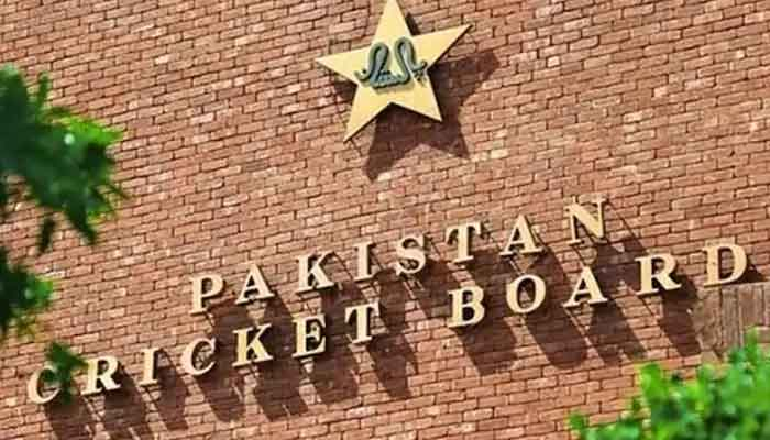 The logo of Pakistan Cricket Board.