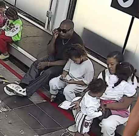Kanye West spotted with four children at Mexico airport
