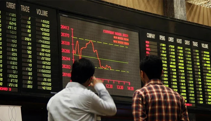 Benchmark index closed its seventh successive session in the red with a decrease of 255.76 points. — AFP/File