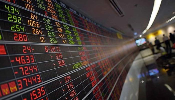 A digital stock display board at stock market. — AFP/File