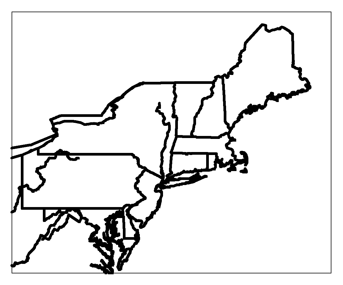 Blank Map Northeast Region