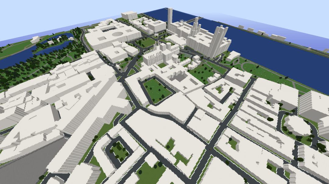WorldBloxer Minecraft map of Westminster, London