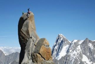 Climbers way up high
