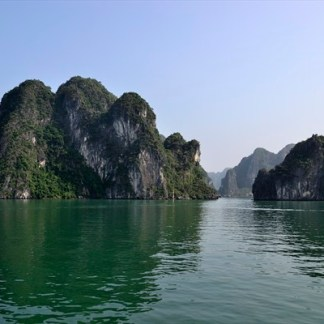 Halong Bay on a sunny day