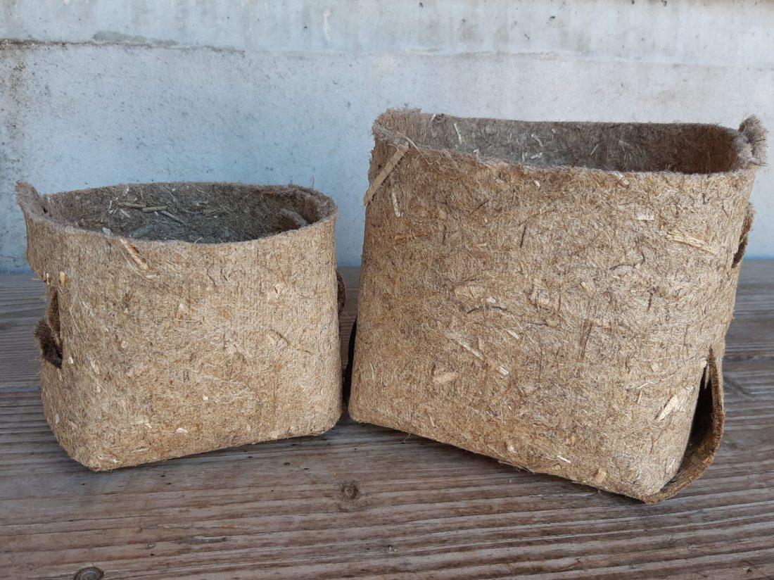 Pot végétal 100% chanvre géochanvre eco-conçu made in france