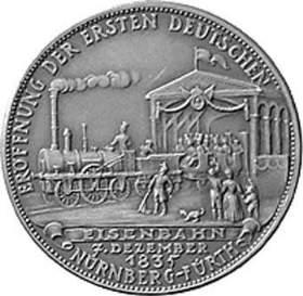 ['Adler' - der erste Locomotif in Deutschland - verkehrte zwischen Nürnberg und Fürth]