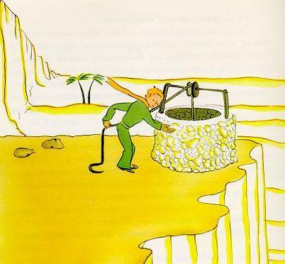 Pozo ... ilustración por Antoine de Saint-Exupéry