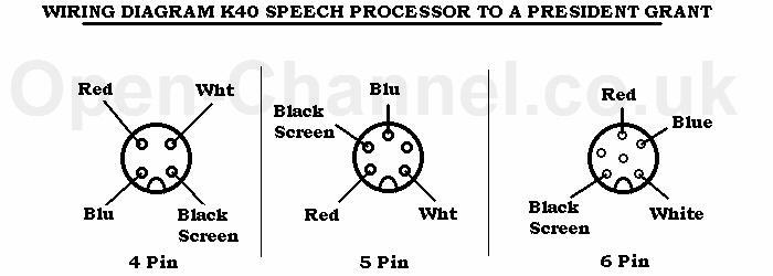 Echo 4 Pin Cb Mic Wiring