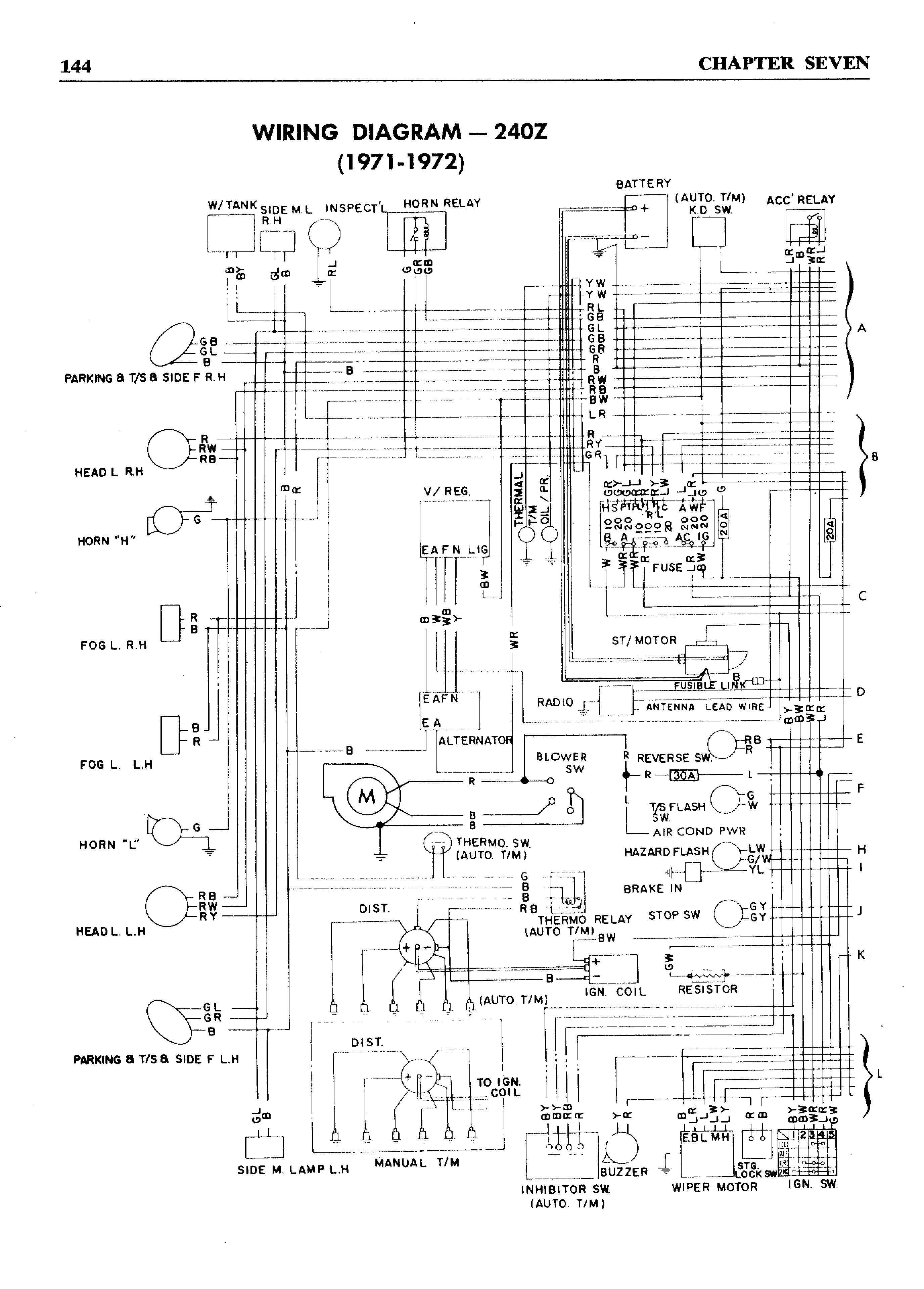 Top 10 Punto Medio Noticias   1972 Datsun 240z Wiring Diagram Nissan Z Wiring Schematics on