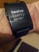 Pebble using words to tell the time