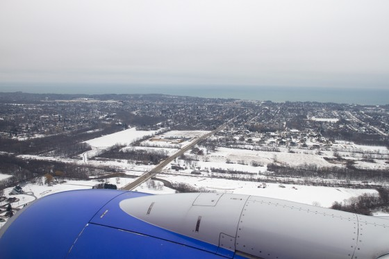 On final approach to MKE - General Billy Mitchell Airport, Milwaukee