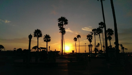 Sunset over Newport Beach, CA