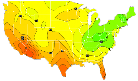 us-temp-map