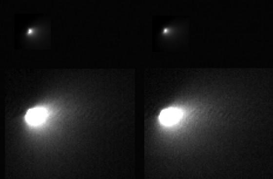 comet siding spring from Mars orbiter