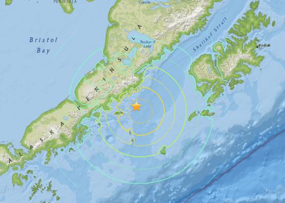 M7.0   111km NNW of Chirikof Island  Alaska