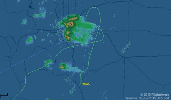 Southwest  WN   542 ✈ 09 Jun 2015 ✈ KSNA   KCOS ✈ FlightAware