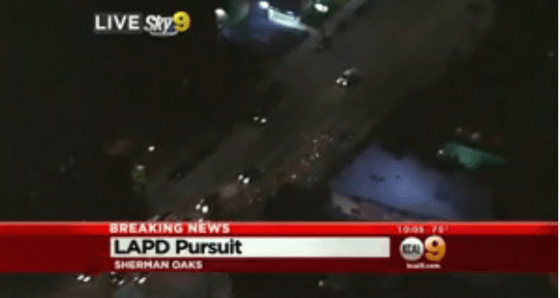 LAPD Apprehends Stolen Car Suspect After He T Bones Vehicle With Child Aboard In Van Nuys « CBS Los Angeles