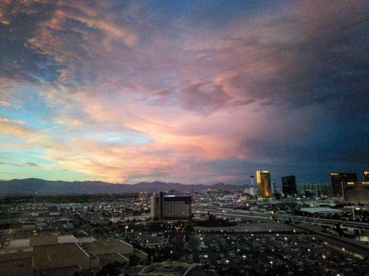 looking north from the rio las vegas