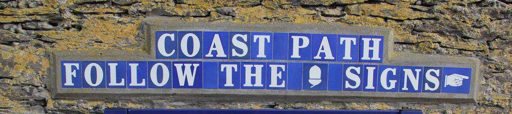 South west coast path sign
