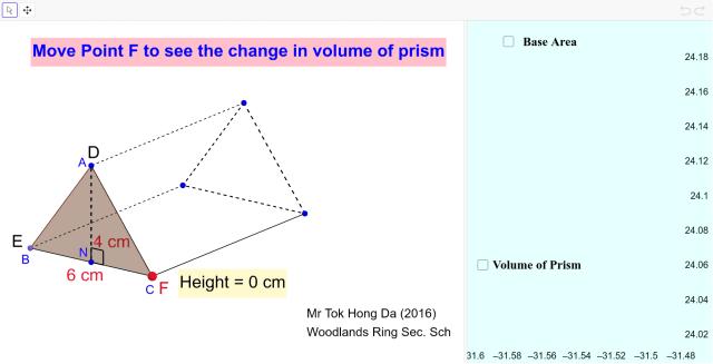 Volume of Triangular Prism – GeoGebra