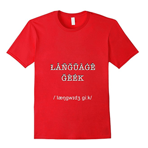 Geoglot language geek t-shirt